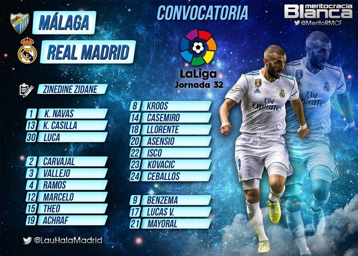 Convocatoria Málaga-Real Madrid
